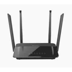 D-Link AC1200 Dual Band router wireless Dual-band (2.4 GHz/5 GHz) Gigabit Ethernet Nero