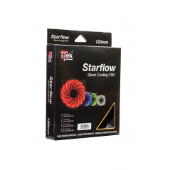 ITEK VENTOLA PER CASE STAR FLOW, 12CM, LED VERDE, 3+4PIN,SILENZIOSA
