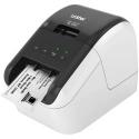 Brother QL-800 Termica diretta Colore 300 x 600DPI Nero, Grigio stampante per etichette (CD)