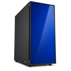 SHARKOON CASE AM5 SILENT ATX 2XUSB2, 2XUSB3, 7 SLOTS, 2X140 FRONT, 1X140 REAR, BLUE