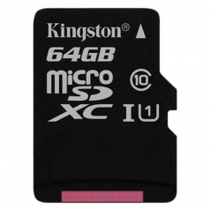 KINGSTON MICRO SDHC 128GB CANVAS SELECT 80/10 MB/S CON ADATTATORE SD