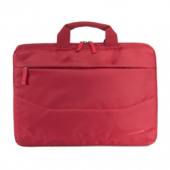 "TUCANO BORSA + MOUSE WIRELESS (BORSA SLIM PER NOTEBOOK DA 15,6"", TRACOLLA COLORE ROSSO + MOUSE WIRELESS)"