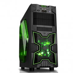 CASE NINJA - GAMING MIDDLE TOWER USB3 12CM GREEN