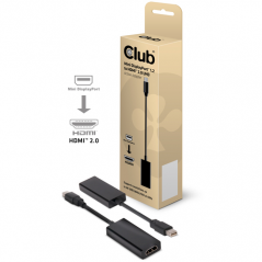 CLUB3D CAC-1170 cavo di interfaccia e adattatore Mini DisplayPort 1.2 HDMI 2.0 Nero