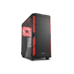 SHARKOON CASE AI7000 ATX 2XUSB2, 2XUSB3, 7 SLOTS, 2X140 FRONT, 1X140 LED REAR WINDOW VETRO TEMPERATO, RED