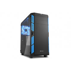 SHARKOON CASE AI7000 ATX 2XUSB2, 2XUSB3, 7 SLOTS, 2X140 FRONT, 1X140 LED REAR WINDOW VETRO TEMPERATO, BLUE