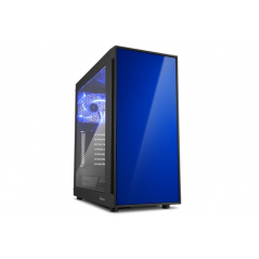 SHARKOON CASE AM5 WINDOW ATX 2XUSB2, 2XUSB3, 7 SLOTS, 2X140 FRONT, 1X140 REAR, BLUE