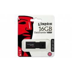 Kingston Technology DataTraveler 100 G3 unità flash USB 16 GB 3.0 (3.1 Gen 1) Connettore USB di tipo A Nero