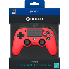 NACON COMPACT CONTROLLER CON CAVO PER PLAYSTATION 4 RED (PC COMPATIBILE)