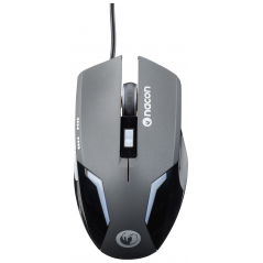 NACON MOUSE GAMING OTTICO 800-2400 DPI, 6 PULSANTI, LED, SUPERFICIE MORBIDA - BLACK