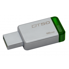 Kingston Technology DataTraveler 50 16GB unità flash USB 3.0 (3.1 Gen 1) Connettore USB di tipo A Verde, Argento