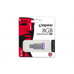 Kingston Technology DataTraveler 50 8GB unità flash USB 3.0 (3.1 Gen 1) Connettore USB di tipo A Porpora, Argento