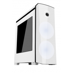 iTek ORIGIN vane portacomputer Midi-Tower Nero, Bianco