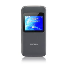 "BRONDI CELLULARE WINDOW DUAL SIM GSM QUAD BAND 1,77"" A COLORI 1,3MP RADIO FM BLUETOOTH SLOT MICRO SD - COLORE ANTRACITE"
