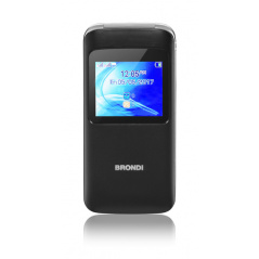 "BRONDI CELLULARE WINDOW DUAL SIM GSM QUAD BAND 1,77"" A COLORI 1,3MP RADIO FM BLUETOOTH SLOT MICRO SD - COLORE NERO"