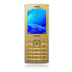 "BRONDI CELLULARE GOLD BLADE DUAL SIM GSM QUAD BAND 2,4"" A COLORI 1,3MP RADIO FM BLUETOOTH SLOT MICRO SD"