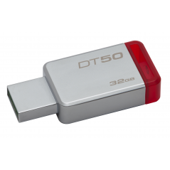 Kingston Technology DataTraveler 50 32GB unità flash USB 3.0 (3.1 Gen 1) Connettore USB di tipo A Rosso, Argento