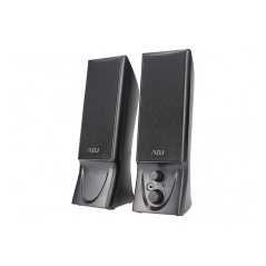 ADJ SPEAKER PC SLENDER 2.0 USB 2X2W BLACK
