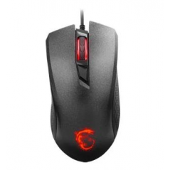 MSI MOUSE GAMING CLUTCH GM10 WIRED LED ROSSO SENSORE OTTICO PIXART ADSN-5712. MAX DPI 2400.