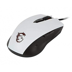 MSI MOUSE GAMING CLUTCH GM40 WIRED LED ROSSO SENSORE OTTICO AVAGO PMW3310. MAX DPI 5000. COLORE BIANCO