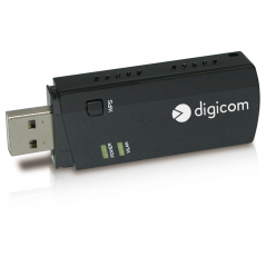 DIGICOM ADATTATORE USB WIRELESS AC600 DUALBAND WPS