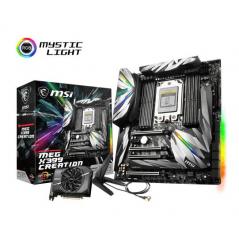 MSI MB X399 CREATION EATX TR4 THREADRIPPER DDR4 QC 3600MHZ INTEL WIFI AC 9260
