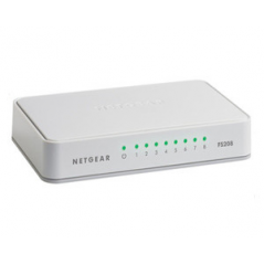 NETGEAR SWITCH 8 PORTE 10/100 PLATINUM CASE UNMANAGED