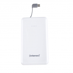 INTENSO POWER BANK 10000MAH USB A + CAVO TIPO C INTERGRATO 5V -2.1A WHITE