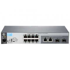 HP SWITCH MANAGED 2530-8G 8 PORTE GIGALAN + 2 SLOT SFP RACK MOUNT