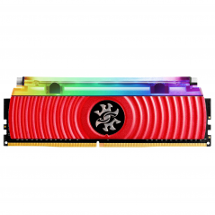 ADATA RAM GAMING XPG SPECTRIX D80 DDR4 3200MHZ CL16 8GB RGB LIQUID COOLED RED HEATSINK