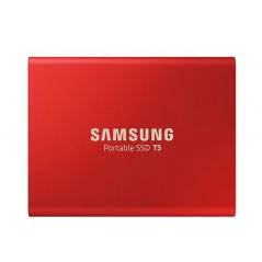 SSD PORTATILE T5 DA 1 TB, USCITA USB 3.1 ROSSO