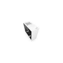NZXT CASE H510 MID TOWER ATX MATTE WHITE, WINDOW, 7 SLOT ESPANSIONE 2,5/3,5, 2X120 FAN FRONT, 1X120 FAN TOP, 1X120 FAN REAR